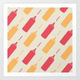 Flight of the Condiments Art Print