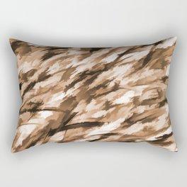 Beige on Beige Designer Camo pattern Rectangular Pillow