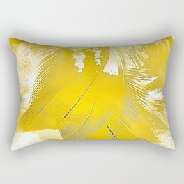 Golden Feathers Rectangular Pillow