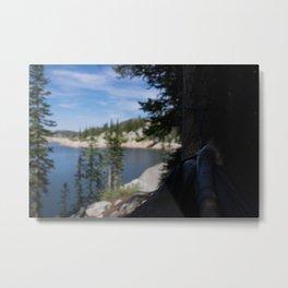 relaxing at lake mary Metal Print