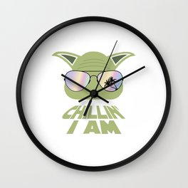 Chillin' I am yoda Wall Clock