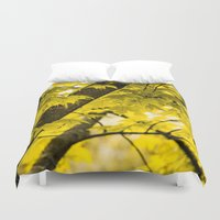 fall Duvet Covers featuring Fall by Faded  Photos