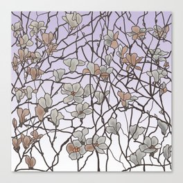 pattern of branches in pastel colors 2 (https://society6.com/totalflora/collection ) Canvas Print