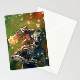Rocket and Groot | Guardians of the Galaxy Stationery Cards