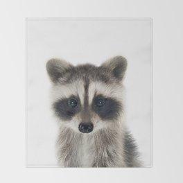 Baby Racoon Throw Blanket