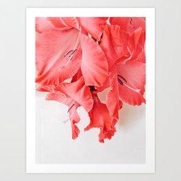 Coral Cascade Art Print