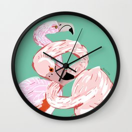 A flamingo never changes his Pink Wall Clock