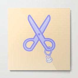 Cute scissors Metal Print