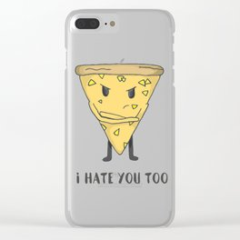 Pineapple Pizza Clear iPhone Case