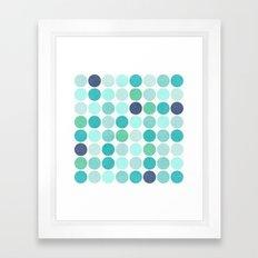 the blue dots Framed Art Print