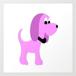 PURPLE DIVA DOG Art Print