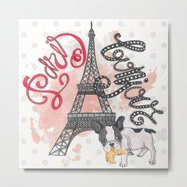 Paris Bonjour Metal Print