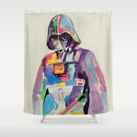 vader Shower Curtains featuring vader by kuri