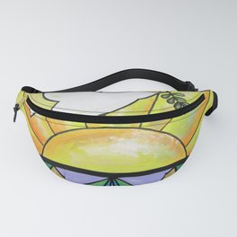 Stained Glass Dove Fanny Pack