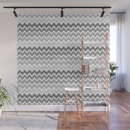 Grey Gray Ombre Chevron Wall Mural