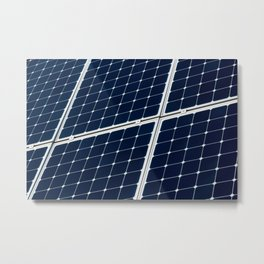 Image Of A Photovoltaic Solar Battery. Free Clean Energy For Everyone Metal Print