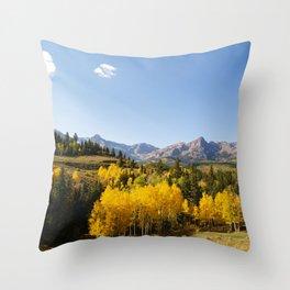 Dallas Creek Meadows Throw Pillow