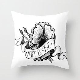 Art Babe Throw Pillow