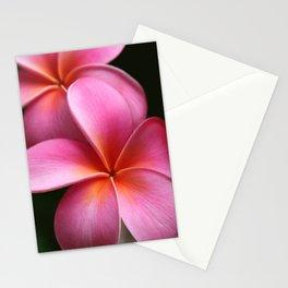 Pua Lei Aloha Cherished Blossom Pink Tropical Plumeria Hina Ma Lai Lena O Hawaii Stationery Cards