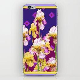 Iris Garden In Shades Of Purple iPhone Skin