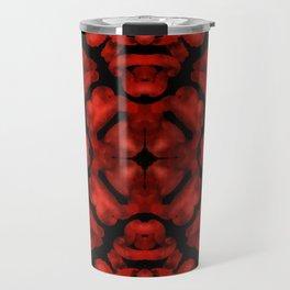 Abstract poppy background Travel Mug