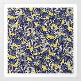 butterfly yellow Art Print