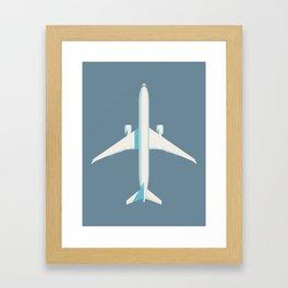 777 Passenger Jet Airliner Aircraft - Slate Framed Art Print