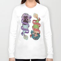 patriarchy Long Sleeve T-shirts featuring ♀ Crush the patriarchy ♀ by ♡ SUSHICORE ♡
