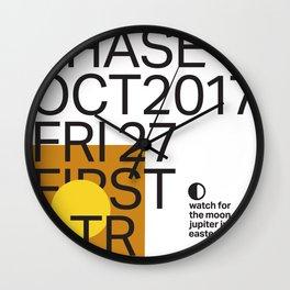 First Quarter Moon - Oct 27 2017 Wall Clock