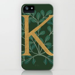 Forest Letter K 2018 iPhone Case
