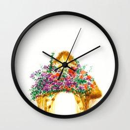 Flower Bungalow Wall Clock