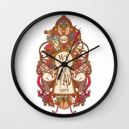 We are all mad here Wall Clock