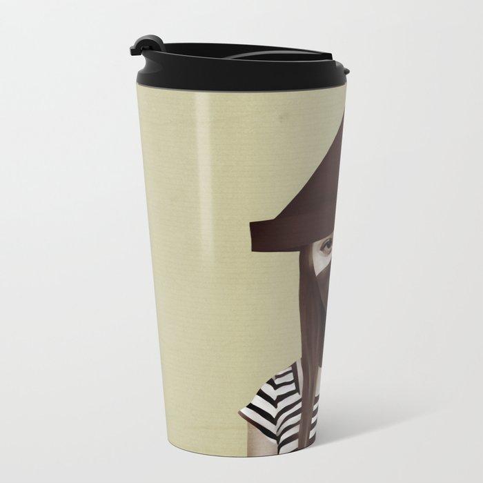 Ceci n'est pas un chapeau Metal Travel Mug