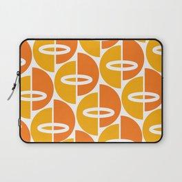 Mid Century Modern Orange Gold Laptop Sleeve