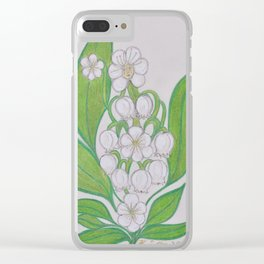 Flor De Fantasias Lily Of The Valley Clear iPhone Case