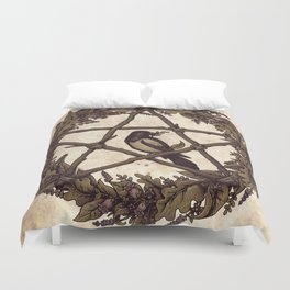 Botanical Pentacle: Wild Witch Duvet Cover