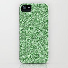 Spacey Melange - White and Dark Green iPhone Case