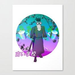 RUNESCAPE SAD JAPANESE AESTHETIC VAPORWAVE Canvas Print