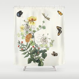 Botanical Painting - Still Wild and Free Shower Curtain