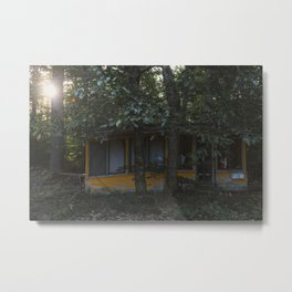 Santa's Summer Home Metal Print
