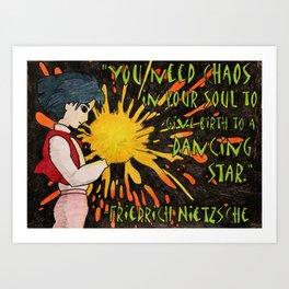 Howl Meets Nietzsche Art Print