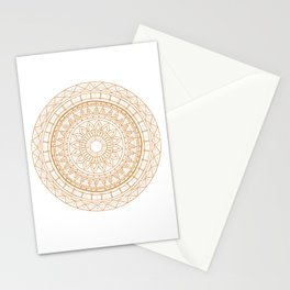Mandala Gold Uneasy Artist Stationery Cards