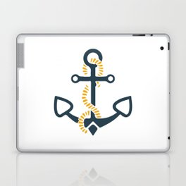 Anchor Ahoi Sailorboat marina Laptop & iPad Skin