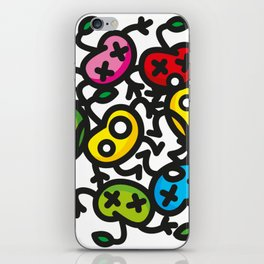 apple color crazy iPhone Skin