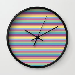 COLORFUL STRIPS Wall Clock