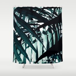 Inside of Palm Trees Shower Curtain