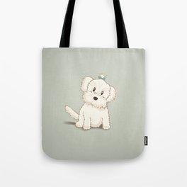 Maltese Dog Illustration Tote Bag