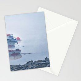 Foggy Scene Puyuhuapi Lake, Patagonia, Chile Stationery Cards