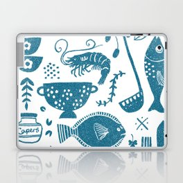 Fish supper textured print pattern Laptop & iPad Skin