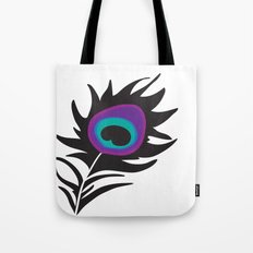 Plum Peacock Tote Bag